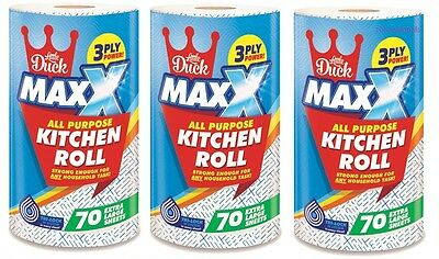 12x TASK LITTLE DUCK MAXX JUMBO XXL TALL LARGE STRONGKITCHEN TOWEL ROLL -3PLY
