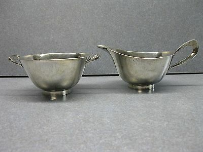 Reed & Barton Sugar And Creamer Sterling 1954