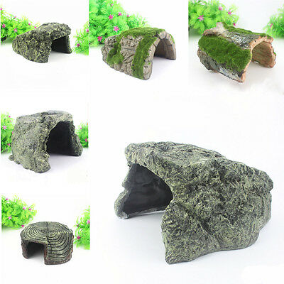 Resin Hide Cave Small Large Extra Large Reptile Snake Lizard Spider Tortoise