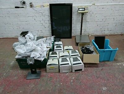 Joblot electronics, tv, profesional scale, laptop display, printers, barcode