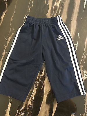 Adidas Toddler Pants Warm Ups Athletic Size 12 Months Baby Blue White Trim