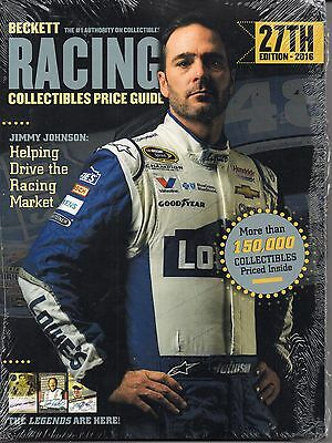 Beckett RACING Card Price Guide 27th Edition 2016 JIMMIE JOHNSON Cover NASCAR