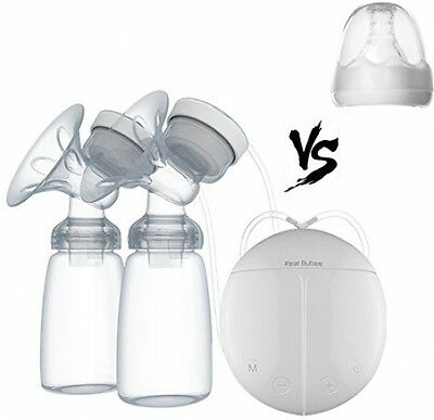 Real Bubee Hands Free Double Electric Breast Pump Dual Breast Pump Automatic