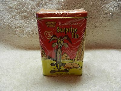 New 1998 Looney Tunes - Wile E. Coyote Surprise Tin- Russell Stover