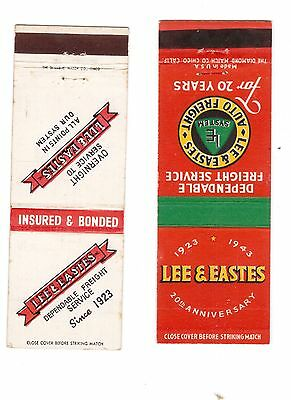 pair of Lee & Eastes MAtchbook Covers, 1943, other matchbook covers no reserve