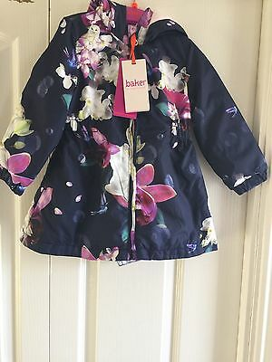 Ted Baker Girls Floral Showerproof Mac Coat/ Jacket. 12-18 Months. BNWT.