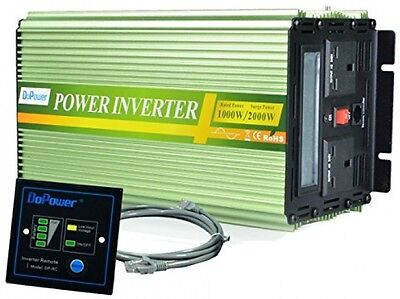 Generic Power Inverter Pure Sine Wave 1000W Peak 2000W DC 12V To 240V AC For -