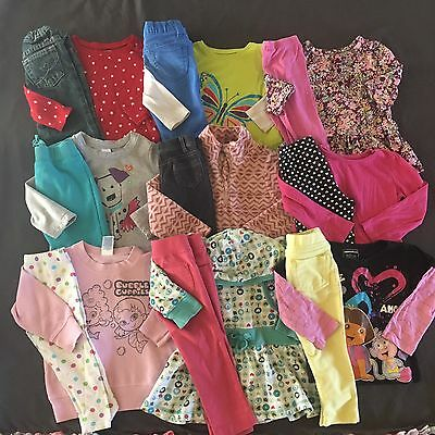 Toddler Girls Lot Of Clothes Outfits 24 Months 2T Tops Pants Long Sleeve