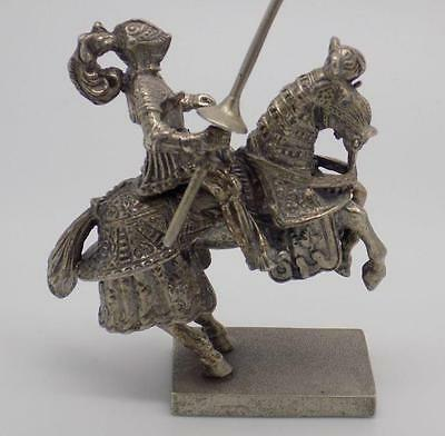 186g! Vintage Solid Silver Rare UNOAERRE Italian Made Knight Miniature - Stamped