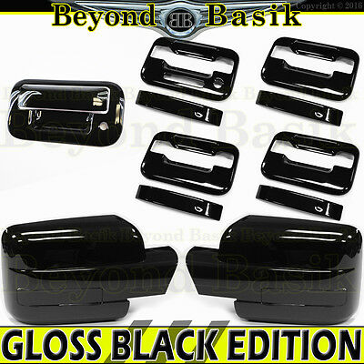 2009-2014 F150 Chrome Door Handle Gas F Mirror Tailgate COVERS W//KP W//OPSK 4DR