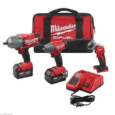 Milwaukee 2896-23 M18 FUEL™ Gen 2 Cordless Lithium-Ion 3 Tool 5 Amp Batts (2)