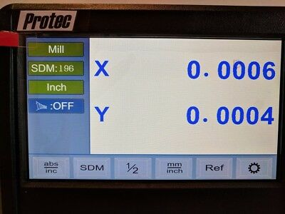 DRO readout Display 4-axis unit interfaces with other mfg.