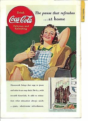Coca Cola original National Geographic ad-1939-Housewife with Coke
