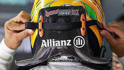 Lewis Hamilton HANS Sport ll Device for 1:2 scale Helmets, Safety/display Models