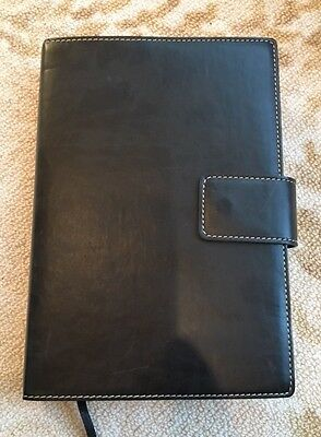 Fiorentina Italian Leather Journal with Snap-Tab Closure, Black - NEW!