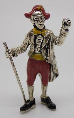 Vintage Solid Silver ANGINI Shakespeare Figure - Stamped - Made in Italy