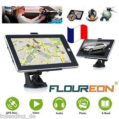"7"" Voiture Camion GPS Navigation Système MP3 SAT NAV FM European Maps 8GB Carte"