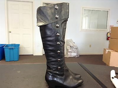 Jessica Simpson Black Knee High Leather Riding Boots Women's Size 8