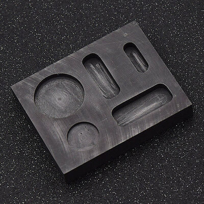 5 inch Graphite Crucible Ingot Bar Combo Mold For Silver Gold Melting Casting