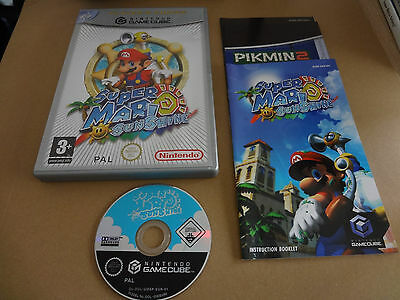 Super Mario Sunshine Game For Nintendo Gamecube Complete Pal Great Condition