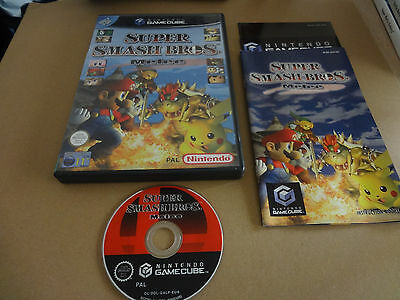 Super Smash Bros Melee Game For Nintendo Gamecube Complete Pal Great Condition