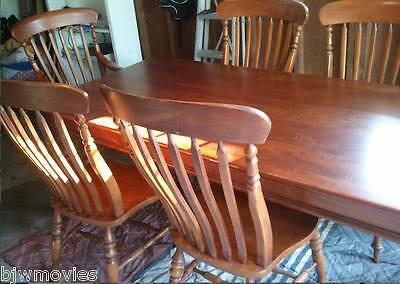 Bob Timberlake Lexington Solid Cherry Farm Table & 6 Chairs Gently Used