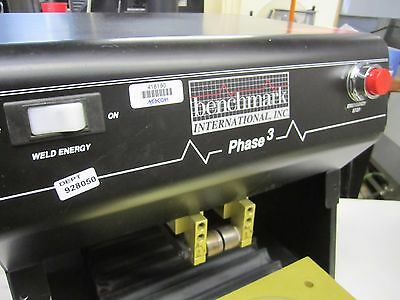 Benchmark Phase 3 Linear Weld Head System Hermetic Sealer