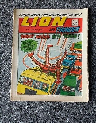 Lion & Thunder 16th February 1974