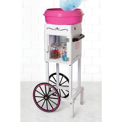 Cotton Candy Machine Tall Carnival Cart Sugar Floss Maker Hard Candy Commercial