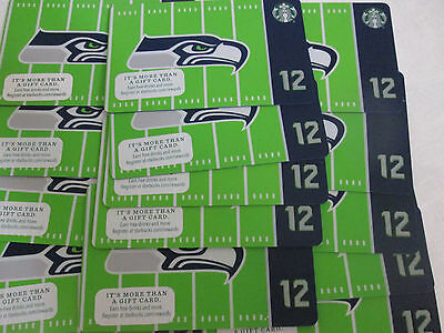 lot of 20 STARBUCKS Gift Card 2016  Seattle Seahawks NO $ VALUE