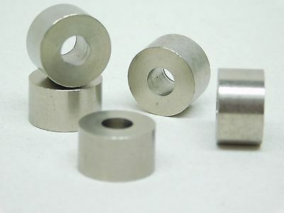 "PACK OF 5! 1/4"" ID x 5/8"" OD x 3/8"" TALL STAINLESS STEEL STANDOFF BUSHING SPACER"