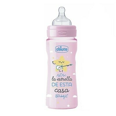 Biberón Mr.Wonderful 330Ml Silicona Rosa - Colores - Rosa