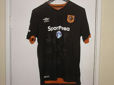 Squad Signed Hull City AFC 2016/17 Season Away Shirt 12 Autographs!