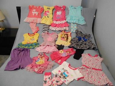 22 Pc Mixed Lot Toddler Girls Size 3-3T Used Summer Clothing