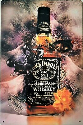 Jack Daniels collectable metal plaque tin sign for bar pub man cave shed garage