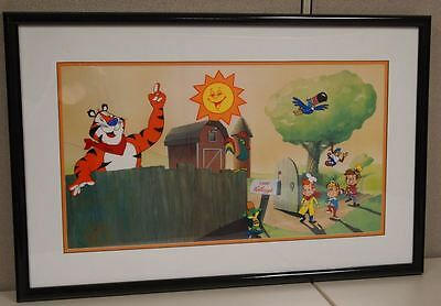Welcome to Camp Kellogg's HAND-SIGNED THURL RAVENSCROFT Voice of Tony the Tiger