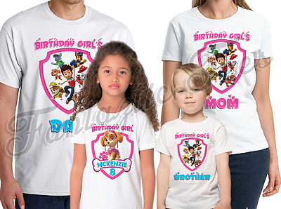 Paw Patrol Shirt Custom Name And Age Personalized Family Birthday