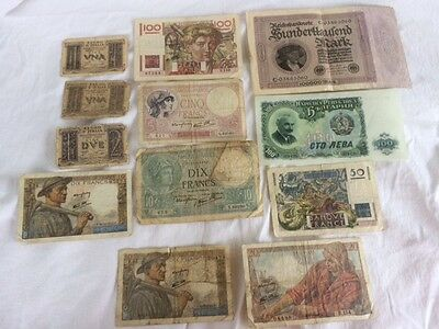Antique Foreign Paper Money Lot of 12