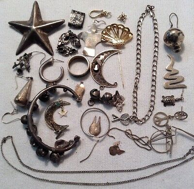 Sterling Silver / 925 Lot Nice Pins, Bracelets, Necklace, Charms FREE SHIPPING