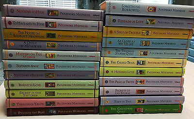 Lot of 22 PATCHWORK MYSTERIES Guideposts Christian Hardcover Books - VGC