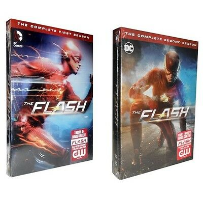 The Flash - The Complete First & Second Season 1 & 2 (DVD, 2016, 11-Disc Set)