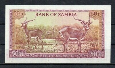 ZAMBIA Africa 50 Ngwee 1969 UNC p~9b