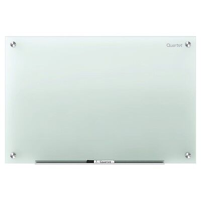 Quartet Glass Dry Erase Board Whiteboard / White Board 4' x 3' Frosted Surfac...