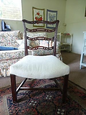 Stylish Mahogany Chair With Attractive Back