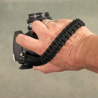 """The """"Cordy Classic Grip"""" Paracord Camera Hand Strap - Handmade by Cordweaver"""