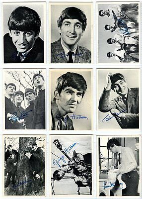 1964 THE BEATLES Topps Series 1 Black & White - lot of 17 different cards