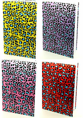 Leopard Design - A4 Notebook - 80 Double Sided Lined Pages - School Book