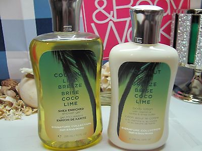Bath and Body Works  ( 2 ) ~Coconut Lime Breeze ~ Lotion & Shower Gel Full Size