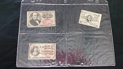 Lot of 3pc. of Fractional Currency- 25, 10, and 5 cents