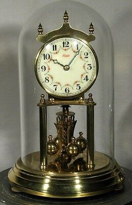 Kundo 400 Day Anniversary Clock. Porcelain Dial. Serviced. Gwo. Dome Winding Key